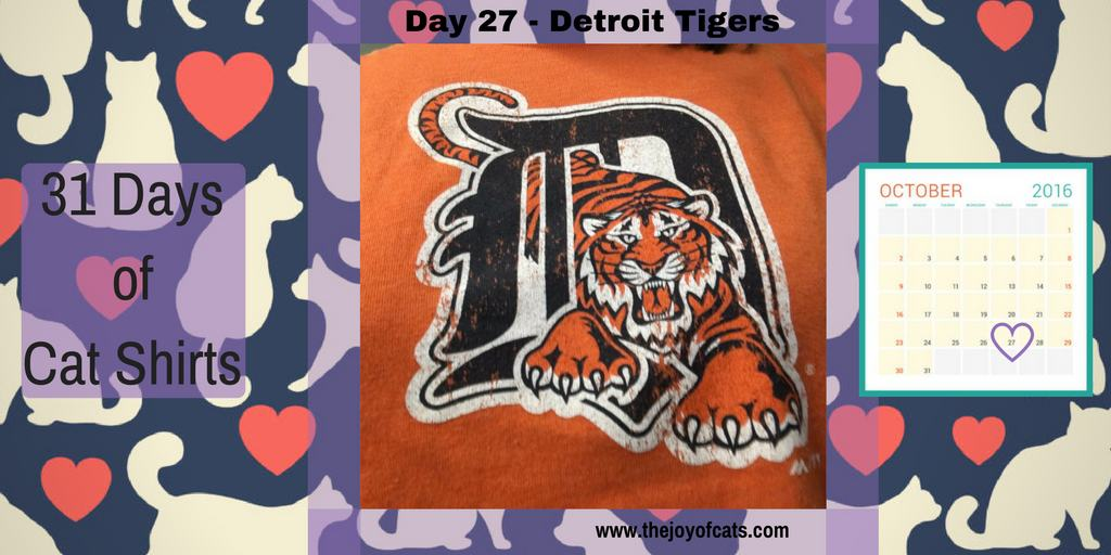 31 Days of Cat Shirts - Day 27 - Detroit Tigers