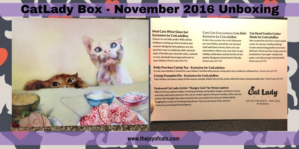 CatLady Box - November 2016 Unboxing and Review